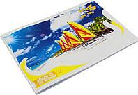 """Альбом для малюв. на скобі 36/120 A4 """"Морський бриз"""" №18486/Поділля/(10)(70)"""