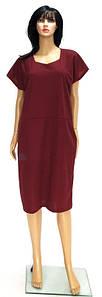 Летнее платье разных цветов с карманами 48-54 р