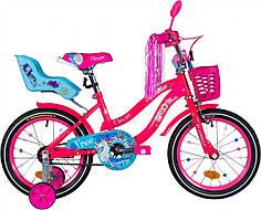 """Велосипед 16"""" Formula FLOWER PREMIUM 2020 (розовый с голубым)"""