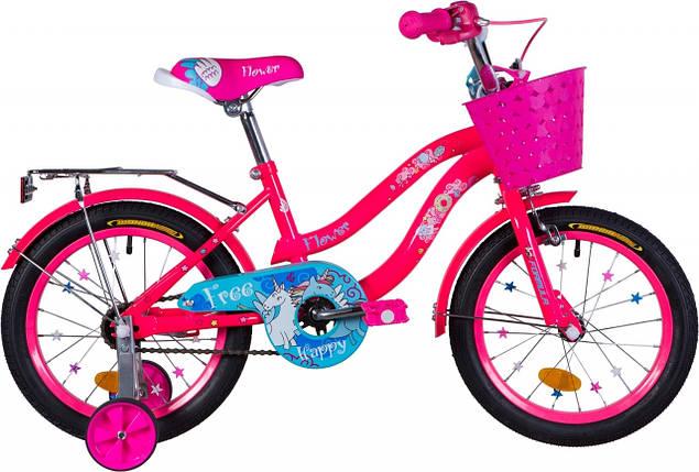 """Велосипед 16"""" Formula FLOWER 2020 (розовый с голубым), фото 2"""