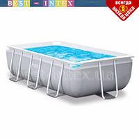 Прямоугольный каркасный бассейн Intex 26792 (488 x 244 x 107 см) Prism Frame PoollSteel Frame Pool, фото 1