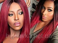 Парик из искусственных волос Sunshine 66 см  Красный