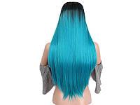 Парик из искусственных волос Sunshine 66 см Синий