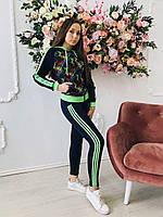 Женский спортивный повседневный костюм модный двунитка 7141 Zeta-m