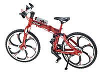 Модель гоночного велосипеда фінгербайк Crazy Magic Finger складаний 1:10 Складаний Червоний