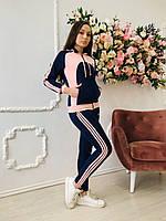 Женский спортивный повседневный костюм модный эластик 724  Zeta-m