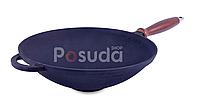 Сковорода чугунная ВОК с деревянной ручкой без крышки Ситон 1,7 л Кздр1-7, фото 1