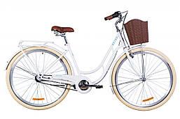 """Городской дорожный велосипед 28"""" Dorozhnik RETRO планет. 2020 (белый)"""