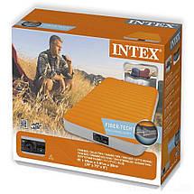 Надувний матрац Intex 64791 з вбудованим насосом на батарейках, 191 х 99 х 20 див., фото 3