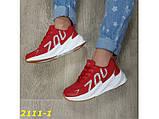 Кроссовки на массивной подошве шарк SHARK красные 36, 38 р. (2111-1), фото 8