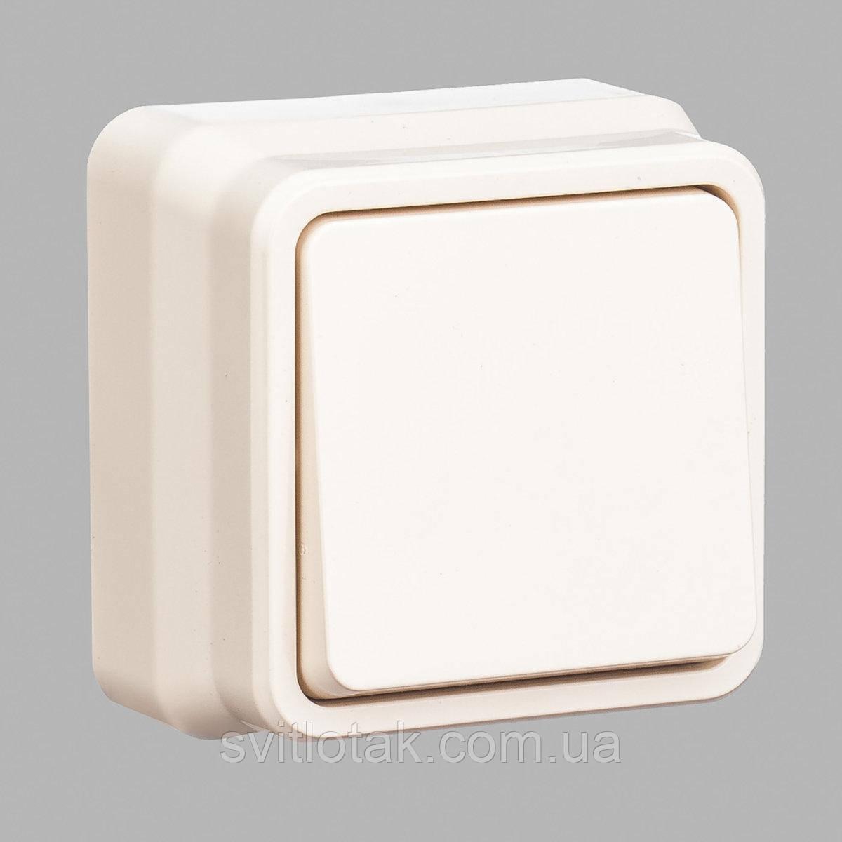 Misya выключатель 1-ый наружный кремовый