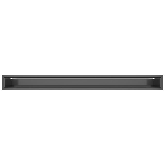 Вентиляційна решітка для каміна SAVEN Loft 90х1000 графітова