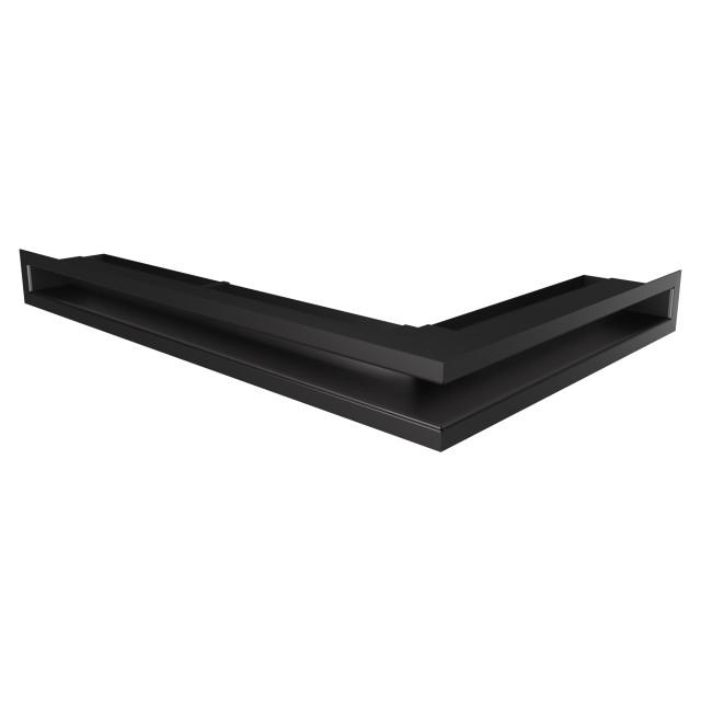 Вентиляційна решітка для каміна кутова ліва SAVEN Loft Angle 60х400х600 чорна