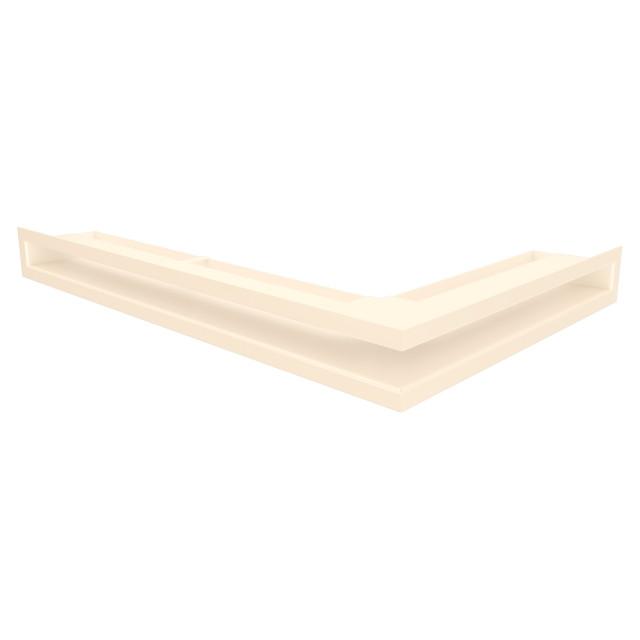 Вентиляційна решітка для каміна кутова ліва SAVEN Loft Angle 60х400х600 кремова