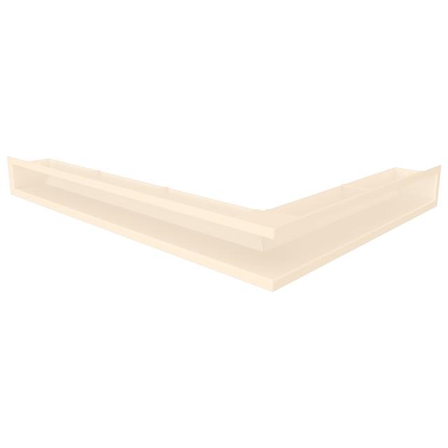 Вентиляційна решітка для каміна кутова ліва SAVEN Loft Angle 90х600х800 кремова