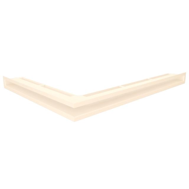 Вентиляційна решітка для каміна кутова права SAVEN Loft Angle 60х800х600 кремова