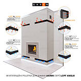 Вентиляційна решітка для каміна кутова права SAVEN Loft Angle 90х800х600 графітова, фото 5