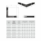 Вентиляційна решітка для каміна кутова права SAVEN Loft Angle 90х800х600 графітова, фото 6