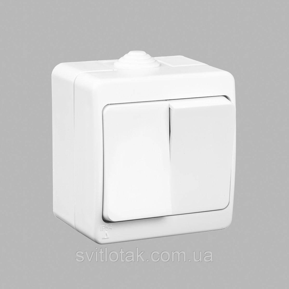 Nemli вимикач 2-ой вологозахищений сірий
