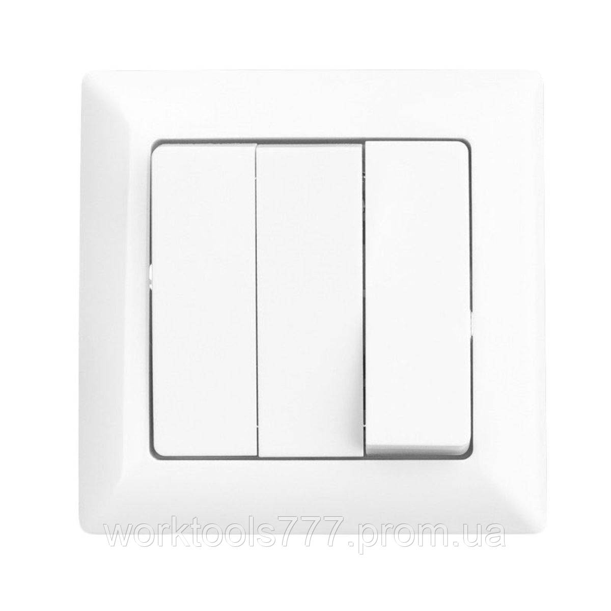 Lectris вимикач 3-ої білий