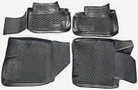 Коврики в салон Kia Ceed (JD) 2012 - черные, полиуретановые (Петропласт PPL-10742124) - комплект (4 шт.) + перемычка