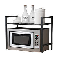 Металлическая подставка для микроволновой печи Стеллаж Стеллаж Полка для кухонной посуды Хранение Органайзер Держатель для кухни Спальн-1TopShop