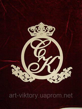 Герб с короной и монограммой (57 х 57 см.), декор, фото 2