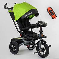 Велосипед трехколесный детский с родительской ручкой капюшоном надувные колеса Best Trike 6088F-08-226