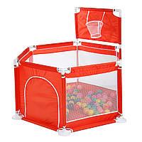 6 панелей детские манежи безопасности охранник с круглой дверью на молнии для малышей дети играют в игру На открытом воздухе шарики-1TopShop