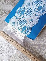 Кружево гипюровое  ( гипюр ) на метраж Мереживо гіпюр Біле, 10-11см. Тайвань Ціна за 1 метр