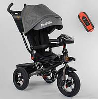 Велосипед трехколесный детский с родительской ручкой капюшоном надувные колеса Best Trike 6088F-05-359
