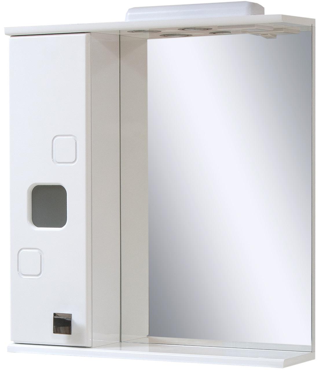 Зеркало для ванной комнаты Квадро 65-16  Левое ПИК