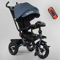 Велосипед трехколесный детский с родительской ручкой капюшоном надувные колеса Best Trike 6088F-04-997