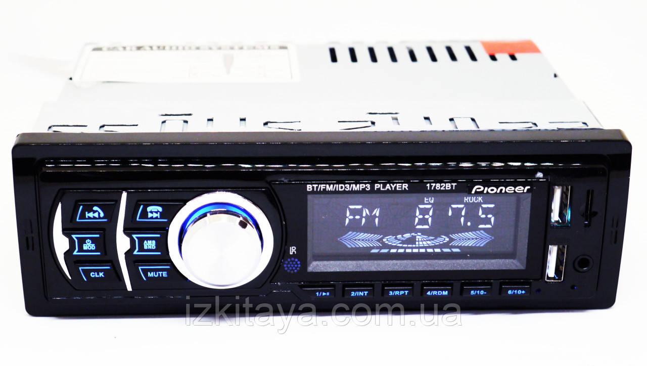 Автомагнитола Pioneer 1782BT Bluetooth+2xUSB+SD+AUX 4x50W