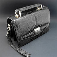 Кожаная мужская барсетка Desisan des-1100-143 сумочка черная деловая маленькая из натуральной кожи, фото 1
