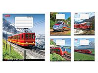 Зошит 48арк. кліт. 1В Trains&Nature-17 №760152(10)(200)
