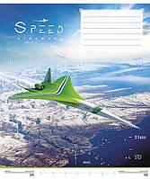 """Зошит 24арк. лін. Школярик """"Speed Aircraft"""" №024-2612L(25)(200), фото 1"""