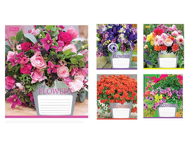 Зошит 48арк. лін. 1В Flowers bouquet-17 №680033(10)(200)