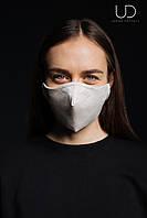Многоразовая защитная маска + 5 фильтров , цвет Бежевый меланж размер M