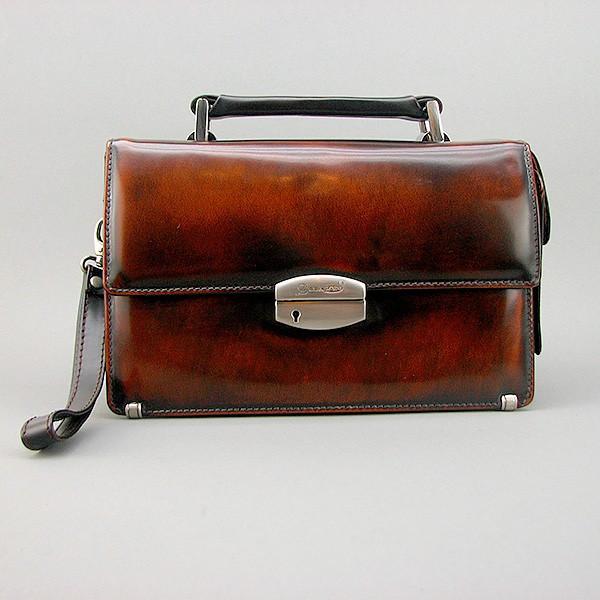 Коричнева сумка-барсетка вінтажна Desisan 1081-0 шкіряна чоловіча класична з натуральної шкіри