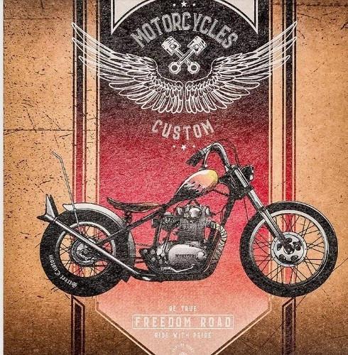 """Зошит 48арк. кліт. """"Мотоцикли"""" крафт №19128/19123/Поділля/(10)(200)"""
