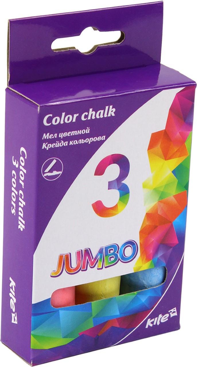 """Крейда кольор. """"Kite"""" №K17-077 3кольор. Jumbo(20)(120)"""