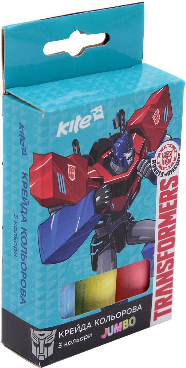 "Крейда кольор. ""Kite"" №TF17-077 Transformers 3кольор. Jumbo(20)(120)"