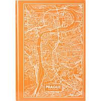 "Книга-канц. A4 96арк. кліт. ""Maps Prague"" персикова №8422-542-A/Axent/(10)"