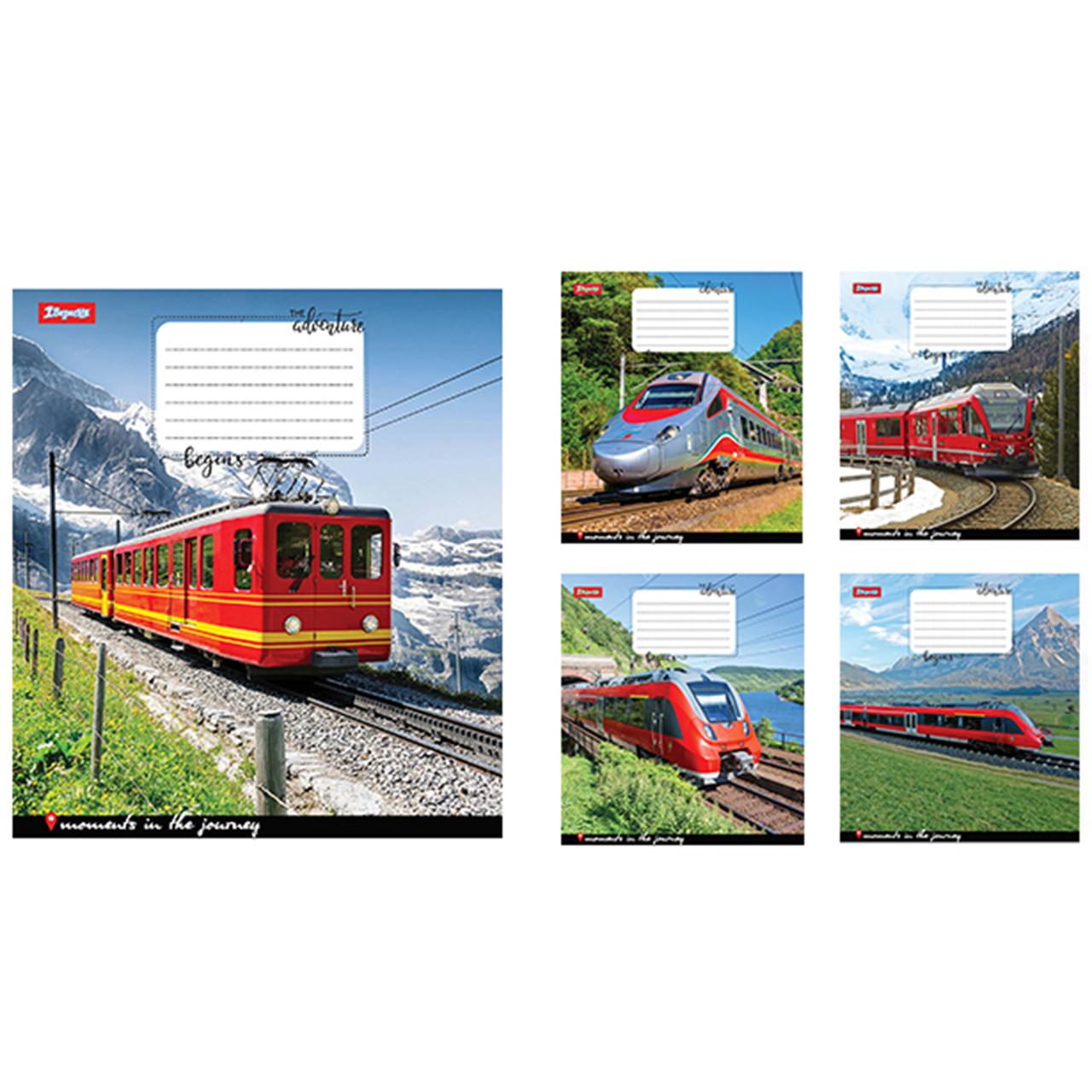 Зошит 24арк. кліт. 1В Trains&Nature-17 №760819(20)(320)