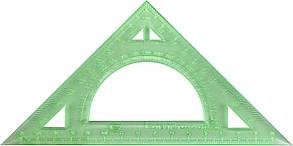 Трикутник 15см №У-150Г гравіров.,прозор.,кольор.(5)(190)
