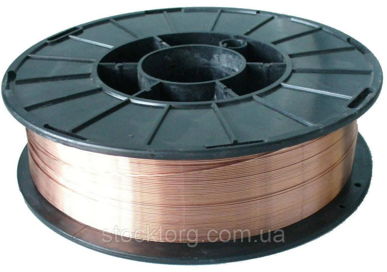 Омедненная сварочная проволока для полуавтомата(4.5кг) 1 мм