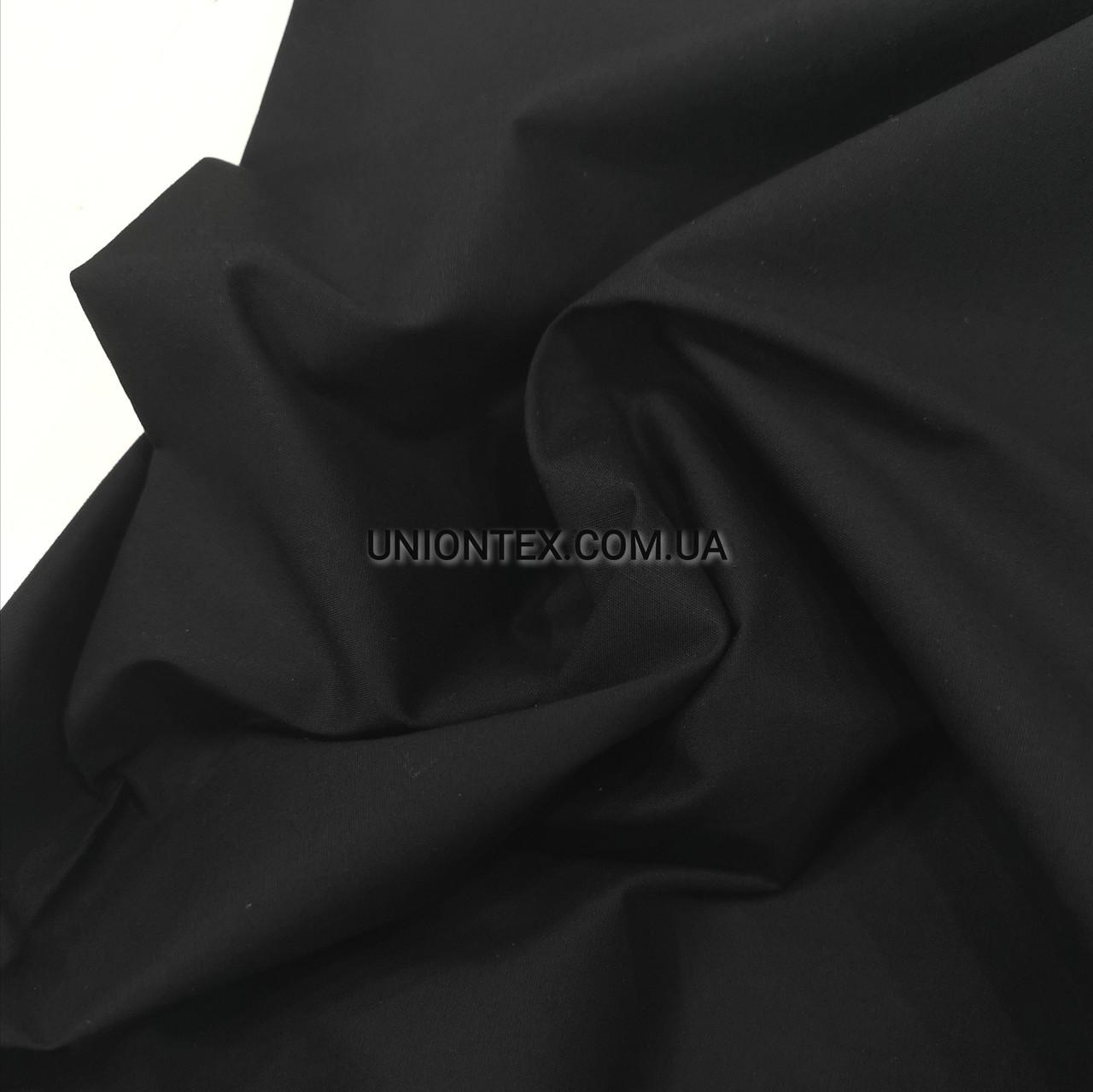 Рубашечная ткань поплин черный