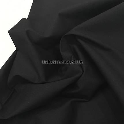 Рубашечная ткань поплин черный, фото 2