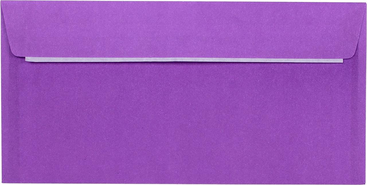 Конверт пошт. E65/DL (0+0) скл фіолет.(100)(500)(1000)
